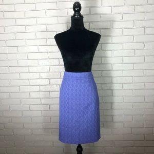 Banana Republic Purple Textured Pencil Skirt